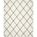 Online Designer Living Room Sewell Moroccan Shag Ivory/Gray Geometric Contemporary Area Rug