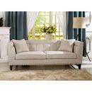 Online Designer Combined Living/Dining Baxton Studio Amelia Beige Linen Modern Sofa
