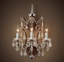 Online Designer Combined Living/Dining 19TH C. ROCOCO IRON & CLEAR CRYSTAL SCONCE 18