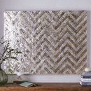 Online Designer Bedroom Capiz Wall Art – Chevron