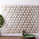 Online Designer Bedroom Capiz Wall Art – Triangle