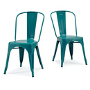 Online Designer Combined Living/Dining Tabouret Bistro Peacock Side Chairs (Set of 2)