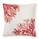 Online Designer Combined Living/Dining Coral Ombre Embroidered Pillow Cover, Coral