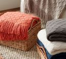 Online Designer Combined Living/Dining PORTER THROW - Apricot Brandy