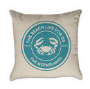 Online Designer Combined Living/Dining Personalized Crab Pillow Cover Beach Life For Us