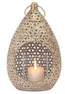 Online Designer Bedroom IMAX Corporation Teardrop Small Lantern, Gold