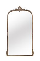 Online Designer Combined Living/Dining amelie wooden arched mirror in gold hue