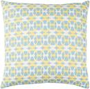 Online Designer Combined Living/Dining Lina Pillow in Aqua & Butter design by Elle Decor