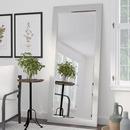 Online Designer Nursery Rustic White Beveled Wall Mirror