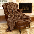 Online Designer Bedroom Coyote Faux Fur Throw