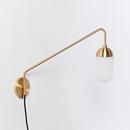 Online Designer Combined Living/Dining Pelle Sconce - Long Gooseneck