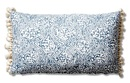 Online Designer Combined Living/Dining Meri 12x20 Tassel Lumbar Pillow, Blue Crown