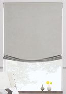 Online Designer Combined Living/Dining Relaxed Roman Shade