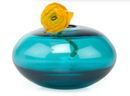 Online Designer Studio Water Pebble Vase in Aqua