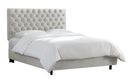 Online Designer Studio Anna Upholstered Bed in Mystere Dove