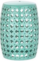 Online Designer Studio Lacey Light Blue Garden Stool