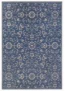 Online Designer Combined Living/Dining Kraatz Summer Vines Navy/Ivory Indoor/Outdoor Area Rug