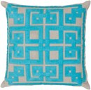 Online Designer Living Room SURYA · BETH LACEFIELD PILLOWS · GRAMMERCY · AQUA, LIGHT GRAY (LD-009)