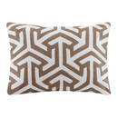 Online Designer Combined Living/Dining Bourg Crewel Embroidered Oblong Cotton Lumbar Pillow