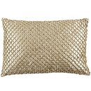 Online Designer Living Room Metallic Beads Lumbar Pillow