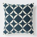 Online Designer Living Room Crewel Circlet Pillow Cover – Blue Lagoon