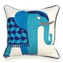 Online Designer Combined Living/Dining JAIPUR ELEPHANT BEADED LINEN THROW PILLOW