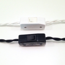 Online Designer Bedroom Black In-Line Switch for Cords