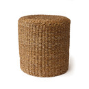 Online Designer Combined Living/Dining Seagrass Round Pouf Ottoman