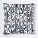Online Designer Combined Living/Dining Circle Stripe Pillow Cover - Nightshade