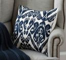 Online Designer Living Room Josie Ikat Embroidered Pillow Cover