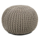 Online Designer Living Room Textured Contemporary Cord Pouf Ottoman