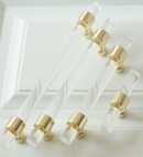 Online Designer Combined Living/Dining Lucite Drawer Pull Acrylic