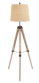 Online Designer Bedroom The Elegant Wood Metal Tripod Floor Lamp