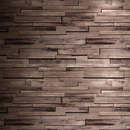 Online Designer Business/Office New 3D Luxury Wood Blocks Effect Brown Stone Brick 10M Vinyl Wallpaper Roll