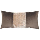 Online Designer Living Room Pewter Weave Band Throw Pillow