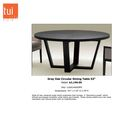 Online Designer Combined Living/Dining ROUND DINING TABLE