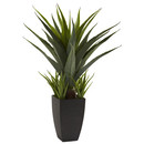 Online Designer Living Room Nearly Natural Agave Desk Top Plant in Decorative Vase