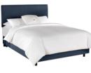 Online Designer Bedroom Linen Upholstered Panel Bed