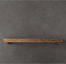 Online Designer Living Room Distressed Pine Shelf