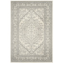 Online Designer Combined Living/Dining Adirondack Ivory & Silver Area Rug
