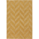 Online Designer Combined Living/Dining Central Park Yellow Chevron Carrie Area Rug