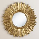 Online Designer Combined Living/Dining Small Antique Gold Leila Sunburst Mirror