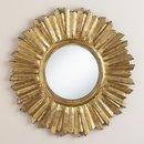 Online Designer Combined Living/Dining Small Antique Gold Leila Sunburst Mirror