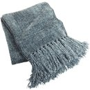 Online Designer Bedroom Chenille Throw - Smoke Blue