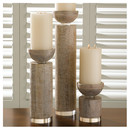 Online Designer Combined Living/Dining Scratched Pillar Candle Holder by Global Views