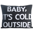 Online Designer Kids Room Baby, It's Cold Outside Eco-Friendly Lumbar Pillow