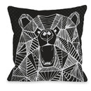 Online Designer Kids Room Geo Bear Throw Pillow by One Bella Casa