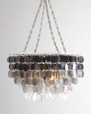 Online Designer Combined Living/Dining Capiz Ombre Two-Light Chandelier