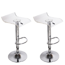 Online Designer Combined Living/Dining Transparent Hydraulic-lift Adjustable Bar Stools (Set of 2)