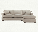 Online Designer Living Room Lansbury Grey 2 Piece Sectional